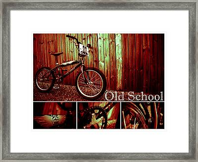 Old School Bmx - Pk Collage Colour Framed Print by Jamian Stayt