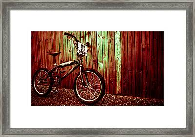 Old School Bmx - Pk Ripper  Framed Print by Jamian Stayt