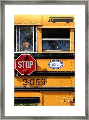 Old School Bus 1 Framed Print by James Brunker