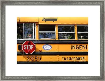 Old School Bus 2 Framed Print by James Brunker