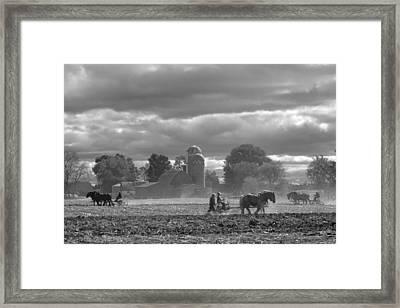 Old School Farming Framed Print by Jodi Pflepsen