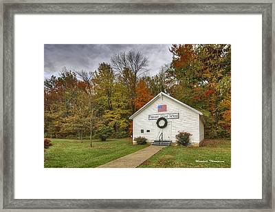 Old School House At Panther Creek Framed Print