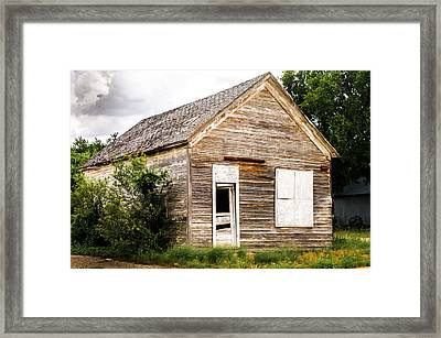 Old School House Framed Print by Bob Marquis