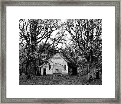 Old School House In The Woods Framed Print by Thomas J Rhodes
