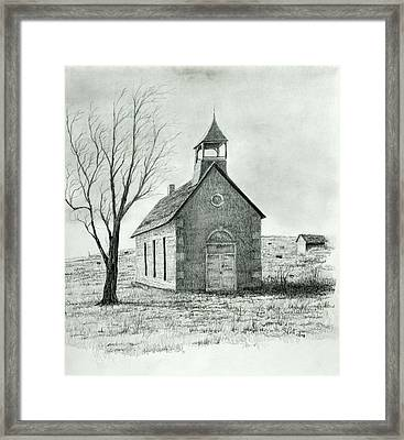 Old School House Framed Print by Steve Cost