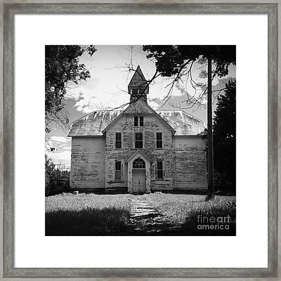 Old School House Framed Print by Theresa Fiacchi