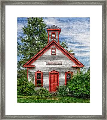 1892 Summit School House Version 3 Framed Print by Frank J Benz