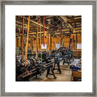 Old School Machine Shop Framed Print