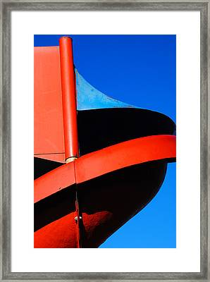 Old School Slide Framed Print by Stephanie Grooms
