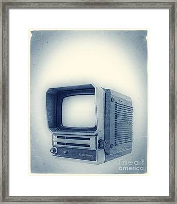 Old School Television Framed Print