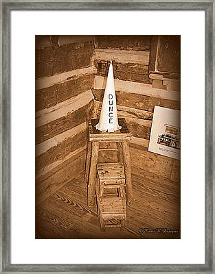 Old School Framed Print by Terri K Designs
