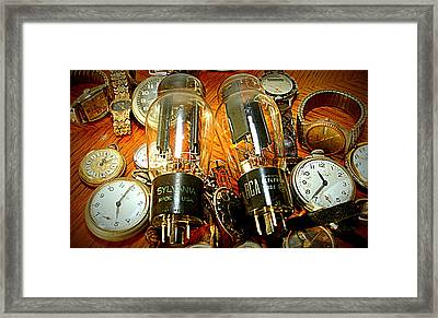 Old School Tube And Time Framed Print by Danny Jones