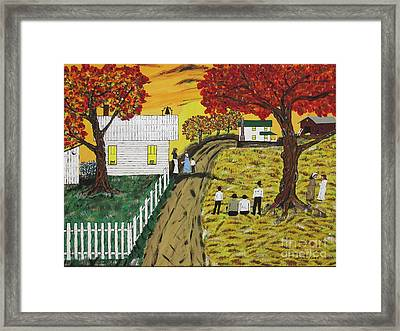 Old Schoolhouse Bell Framed Print by Jeffrey Koss
