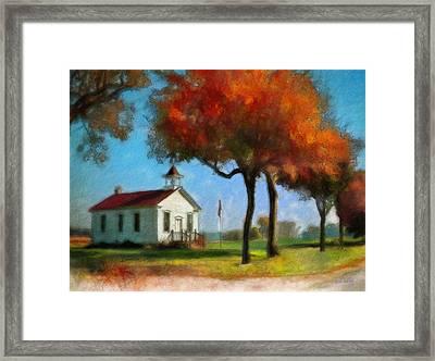 Old Schoolhouse Framed Print