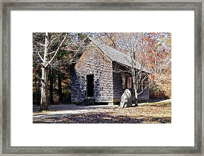 Old Schoolhouse Building Framed Print by Susan Leggett