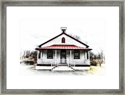 Old Schoolhouse Chester Springs Framed Print by Bill Cannon