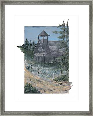Old Country Schoolhouse Framed Print