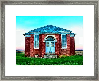 Old Schoolhouse Framed Print by Julie Dant