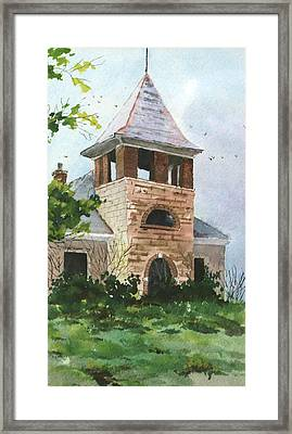 Old Schoolhouse Framed Print by Susan Crossman Buscho