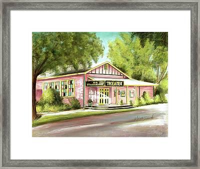 Framed Print featuring the painting Old Schoolhouse Theater On Sanibel Island by Melinda Saminski