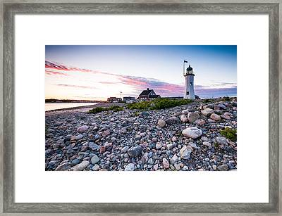 Old Scituate Light Framed Print by Lee Costa
