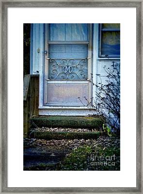 Old Screen Door Framed Print by Jill Battaglia