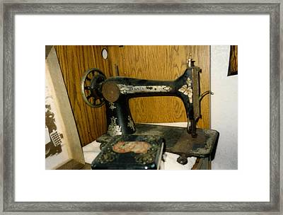 Old Sewing Machine Framed Print by Amazing Photographs AKA Christian Wilson
