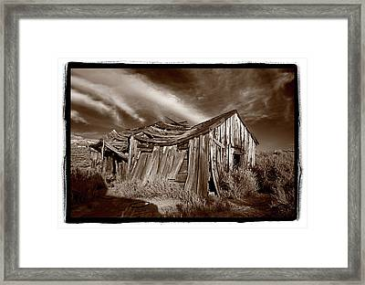 Old Shack Bodie Ghost Town Framed Print