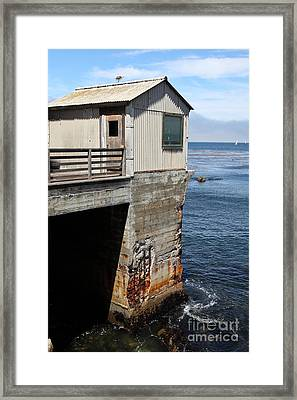 Old Shack Overlooking The Monterey Bay In Monterey Cannery Row California 5d25062 Framed Print
