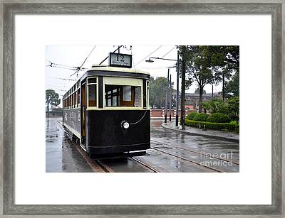 Old Shanghai Trolley Tram Car Rests In Tracks Framed Print by Imran Ahmed
