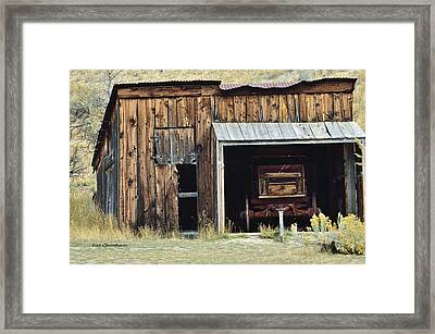 Old Shed And Wagon Framed Print by Kae Cheatham