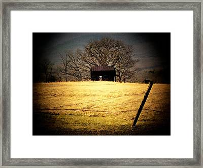 Old Shed Framed Print by Michael L Kimble