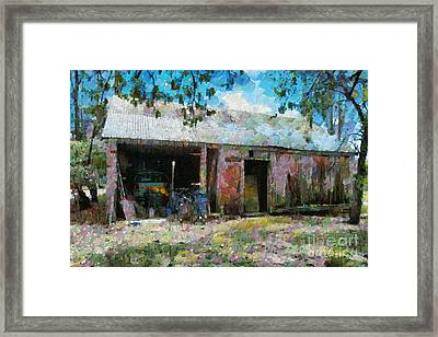 Old Shed Near Braidwood Framed Print