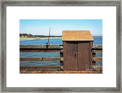 Old Shed On Ventura Pier Framed Print by Susan Wiedmann