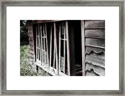 Old Shed Framed Print by Rebecca Davis