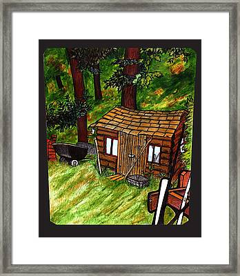Old Shed Shed Framed Print by Ryan Lee