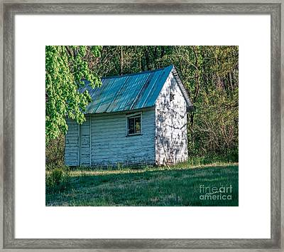 Old Shed Framed Print by Timothy Clinch