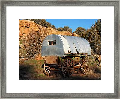 Old Sheepherder's Wagon Framed Print