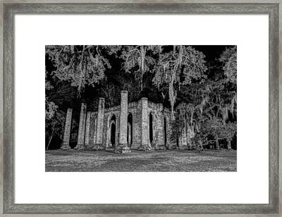Old Sheldon Church At Night Framed Print