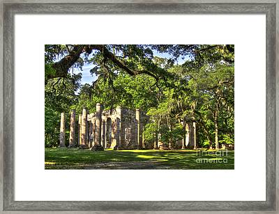 Old Sheldon Church Ruins Framed Print by Reid Callaway