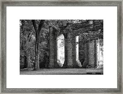 Old Sheldon Church Side View Framed Print