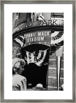 Old Shibe Park - Connie Mack Stadium Framed Print by Bill Cannon
