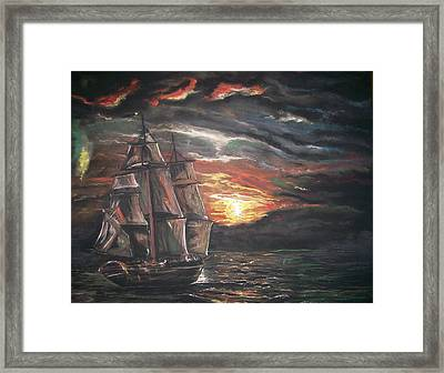 Old Ship Of The Sea Framed Print
