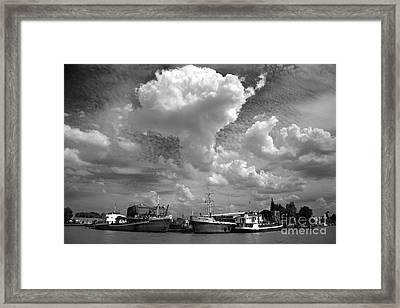 Framed Print featuring the photograph Old Ships by Bernardo Galmarini