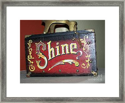 Old Shoe Shine Kit Framed Print