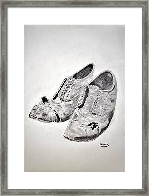 Old Shoes Framed Print by Glenn Calloway