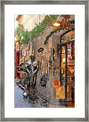 Old Shop In Greece Framed Print by John Malone