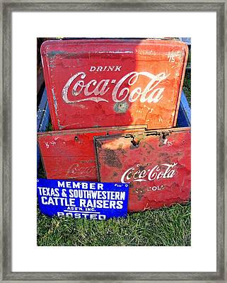 Old Signs Framed Print by Laurie Perry