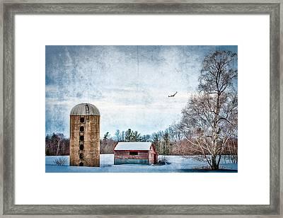 Old Silo Framed Print