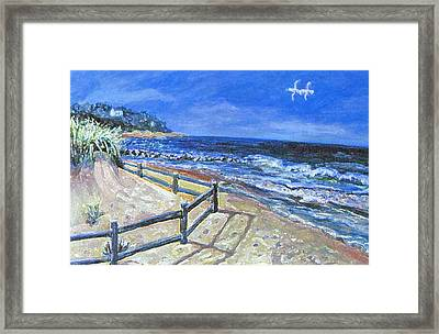 Framed Print featuring the painting Old Silver Beach by Rita Brown